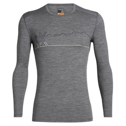 Icebreaker 200 Oasis Deluxe Raglan Long Sleeve Crewe Single Line Ski Top