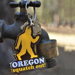 Little Bay Root Squatch Out Oregon Key Chain