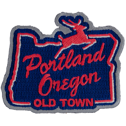 Little Bay Root White Stag Sign Portland Oregon Embroidered Patch