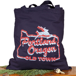 Little Bay Root White Stag Sign Portland Oregon Tote