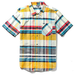 LRG RC S/S Madras Plaid Woven - Men