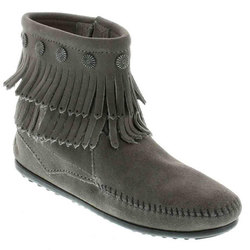 Minnetonka Double Fringe Side Zip Boots - Women's