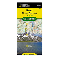 National Geographic Bend Three Sisters Map