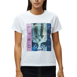 Obey Arrow Stencil Custom Box Tee - Women's