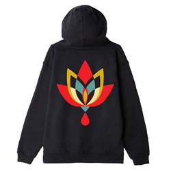 Obey Geometric Flower 2 Sustainable Pullover Hood