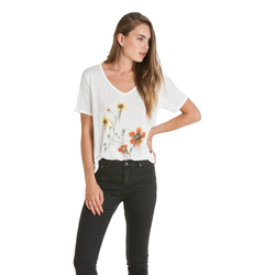 Obey Return To Nature V-Neck Tee - Women's