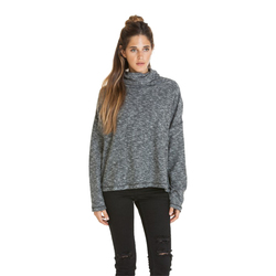 Obey Rhodes Funnel Neck Fleece Sweater- Women's