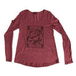 Obey Rose Grid Long Sleeve Tee - Women's