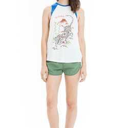 Obey Bianca Tiger Pattern Raglan - Women's