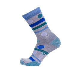 Point6 Polka Stripe Extra Lite 3/4 Crew Socks