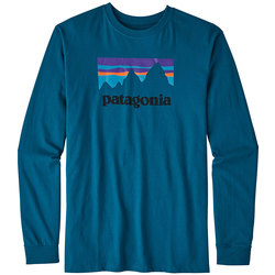 Patagonia Long-Sleeved Shop Sticker Cotton t-Shirt