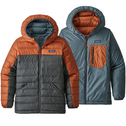 Patagonia Boy's Reversible Down Sweater Hoody - Kid's