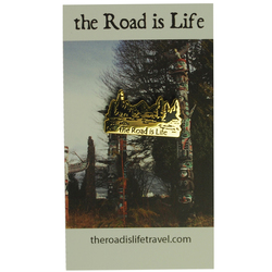 The Road Is Life Mountain Pin