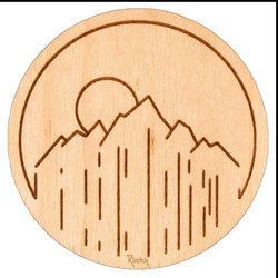 Rustek Sunset Mountain Sticker