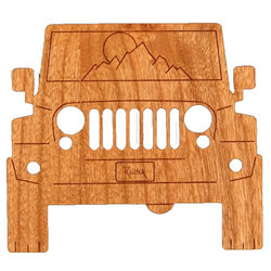 Rustek To The Mountains! Wood Sticker