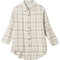 RVCA Drift Away Plaid Button-Up Top - Women's