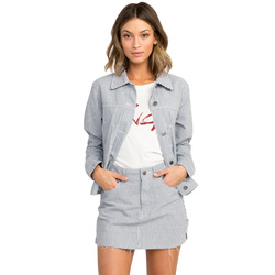 RVCA Garn Striped Denim Jacket - Women's