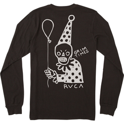 RVCA Pommier Grim Clown Long Sleeve T-Shirt - Men's