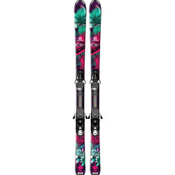 Salomon Q-Lux Jr + EZY7 Skis - Junior's