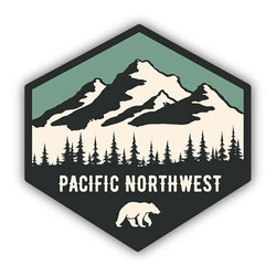 Stickers Northwest Inc Bear Hexagon Sticker