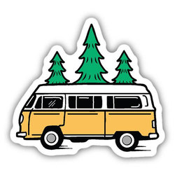 Stickers Northwest Inc Bus and Trees Sticker