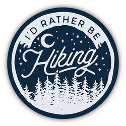 Stickers Northwest Inc I'd Rather Be Hiking Sticker