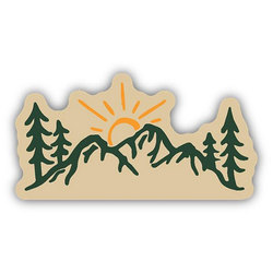 Stickers Northwest Sun Over Mountains Sticker