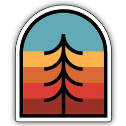 Stickers Northwest Inc Tree Crest Sticker
