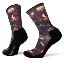 Hike Light Summer Nights Print Crew Socks - Women's