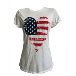US Outdoor Store Heart American Flag T-Shirt