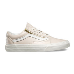 Vans Leather Old Skool Zip Shoes - Women's