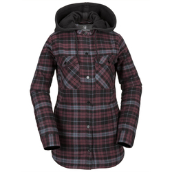 Volcom Hooded Flannel Jacket - Women's